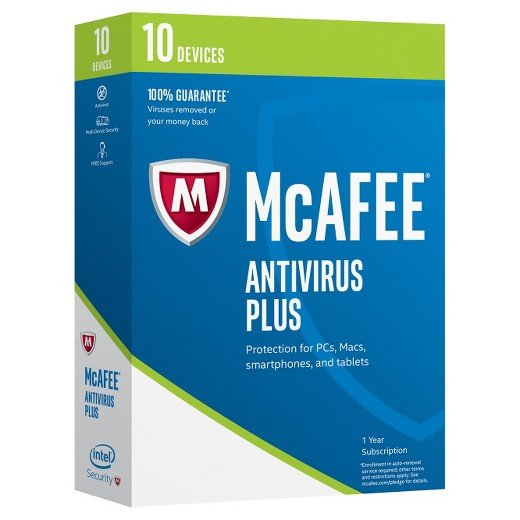 McAfee AntiVirus Plus - 1 year - 10 PC- Global - [KEYCODE]