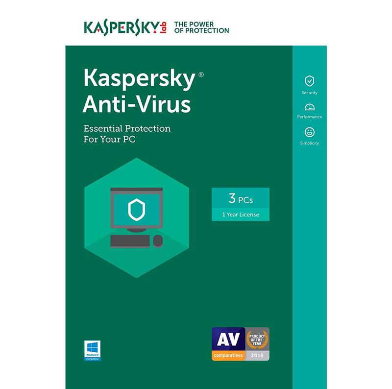 Kaspersky Anti-Virus 2019 - 1-Year / 3-PC - INT
