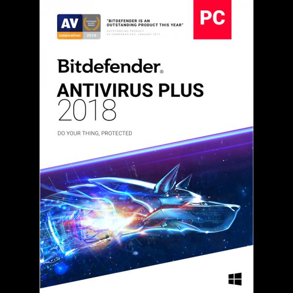 Bitdefender Antivirus Plus - 1-Year / 3-PC [KEYCODE]