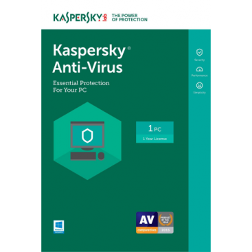 Kaspersky Anti-Virus 2019 - 1-Year / 1-PC - US/CA