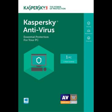 Kaspersky Anti-Virus 2019 - 1-Year / 1-PC - US/CA