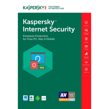 Kaspersky Internet Security 2019 - 1-Year / 1-Device US/CA [KEYCODE]