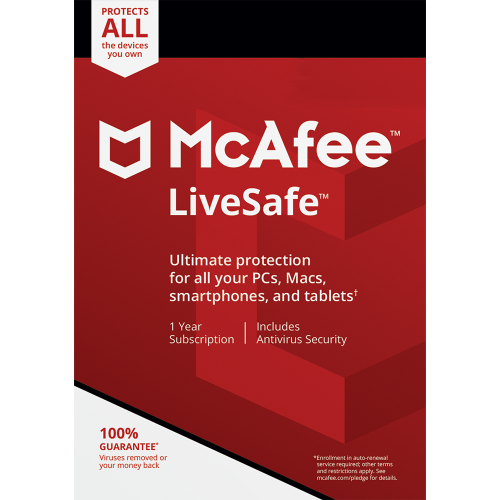 McAfee LiveSafe - 1-Year / Unlimited Devices - Global