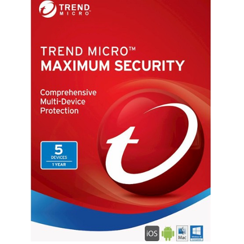 Trend Micro Maximum Security (2019) - 1-Year / 5-Devices