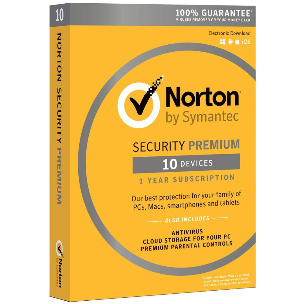 Norton Security Premium with Backup - 1-Year / 10-Device